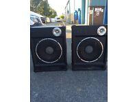Pair of large speakers, DJ,/ PA etc. may swap WHY.