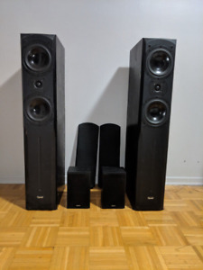 7 speakers sound system set, clean and powerful sound!