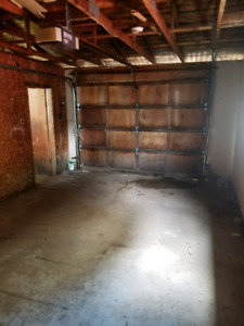 Large 2 bay garage available for storage