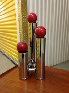 70s Pop Art 3 Tier Mid Century Modern Tubular Chrome Lamp