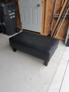 Leather Ottoman for sale.