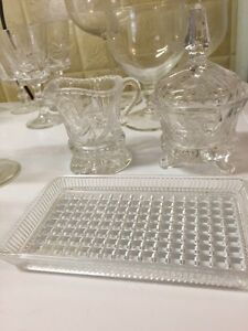 Vintage pin wheel crystal and glassware Kawartha Lakes Peterborough Area image 2