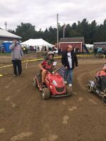 Racing lawn tractor