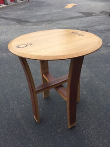 Two Wine Barrel Table