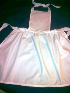 ADULTS-WHITE-COTTON-VICTORIAN-STYLE-APRON-5-LENGTHS-MAIDS-NURSES-ALICE-FANCYDRES