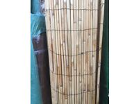 2m high x 4m long rolls of bamboo style thick reed