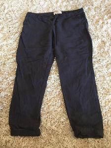 Joie - Navy Blue Linen Pant