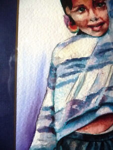 """Watercolor Lithograph by Lisandro Lopez Baylon """"Portrait of Indi Stratford Kitchener Area image 9"""