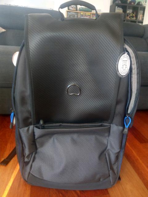 "f491aa342 Delsey Montgallet 17.3"" Laptop Backpack XL - Black / Silver | Bags  | Gumtree Australia Brisbane North West - Brisbane City | 1213713075"