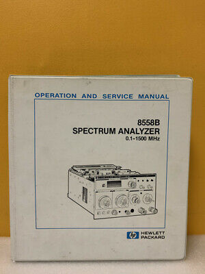 Hp 08558-90102 8558b Spectrum Analyzer 0.1-1500 Mhz Operation And Service Manual