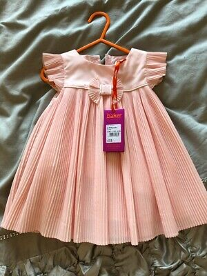 TED BAKER BABY GIRL 3 - 6 MONTHS DRESS WITH TIGHTS SET PINK BNWT