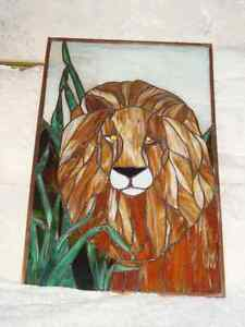 Stained Glass Lion Kingston Kingston Area image 2
