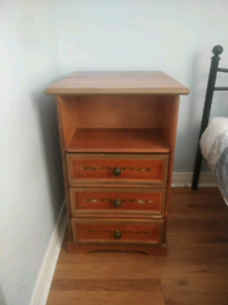 Bedside tables x 2 and chest of drawers open to offers