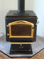 Napoleon Woodstove/Ceramic Base/Firewood Package Deal