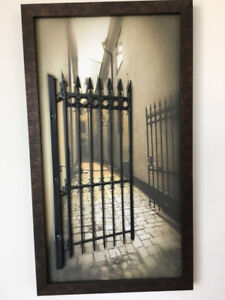 3D Picture Frame with  raised iron gate