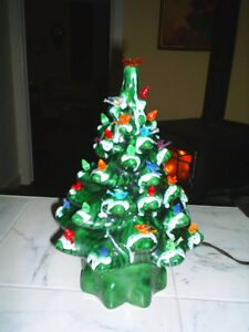 Older Ceramic Lighted Christmas Tree