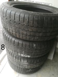 4 PNEUS D'HIVER 205-55R16 CONTINENTAL