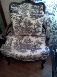 Antique chair and matching cushion.