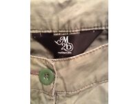 Mothercare khaki green cropped trousers size 10