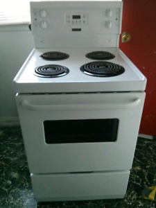 "24""Stove White Electric Frigidaire"