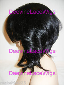 INSTOCK! Bob Layered Yaki Indian Remy Human Hair Full Lace Wig