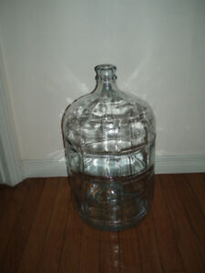 Vintage ( Green & White) Demijohn Large Glass Wine Bottles