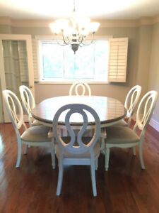 Romantic dining set (table + 6 chairs)