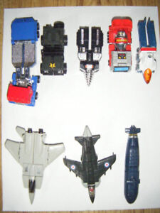 8 Vintage Mini Transformer Gobots for sale in Truro.
