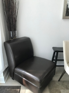 urban accents furniture. accent leather chair from urban barn accents furniture