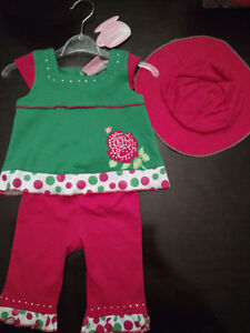 BRAND NEW 2 piece pant outfit with hat -3 months London Ontario image 1
