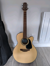 Takamine GX18CE-NS electro-acoustic guitar with battery-powered amp