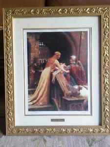 Framed print of Sir Lancelot and Queen Guinevere