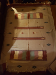 1950's Hand Made Mexican Rug