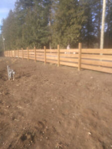 Custom wooden fencing and wooden sundecks