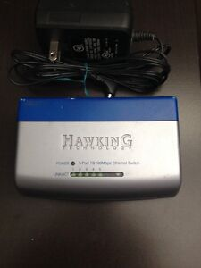 hawking Technology 5 port Ethernet adapter. 10/100mbps