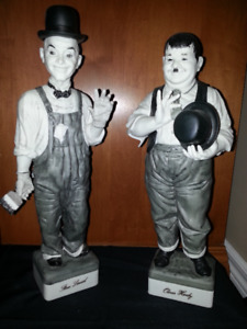 """LAUREL & HARDY 14"""" tall Limited Edition Statues"""