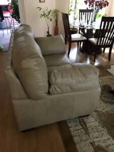 Real leather love seat couch for sale