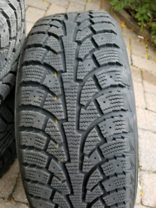 "4 WINTER TIRES WITH RIMS 16"" 205/55R16 USED 1 SEASON"