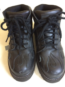 Women's Sha Sha Tribal Flame Motorcycle Boots