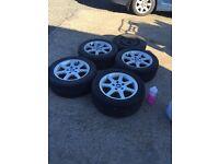 BMW 4 ALLOYS + TYRES + SPARE