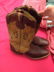 Women's floral cowboy boots (full leather)
