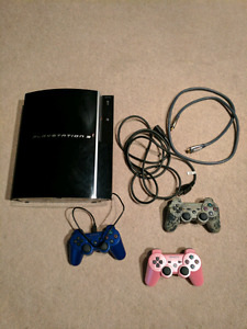PS3 + 3 NEW Controllers $160