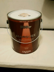 Brand New Behr Marquee Interior Paint - Matte Charcoal Grey