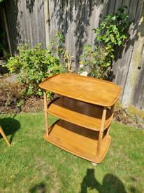 Ercol Originals Vintage three tier drinks/tea trolley table (elm wood)