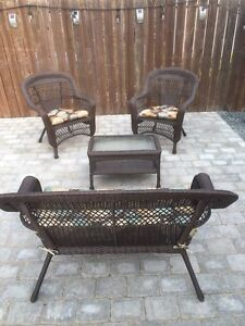 Brand New rattan resin outdoor 4pc conversation set.