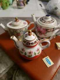 Miniature China Tea pots.