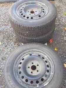 Michelin Latitude ICE Xi2 tires on rims