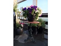 Patio garden table cast iron base
