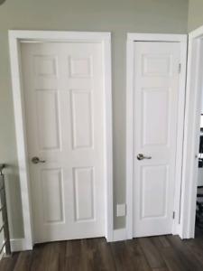 Ensemble de 12 portes intérieures + poignées