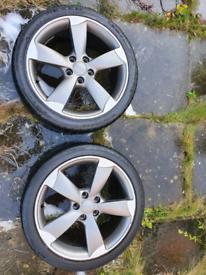 "X2 Genuine Audi Rotors 18"" With Tyres"